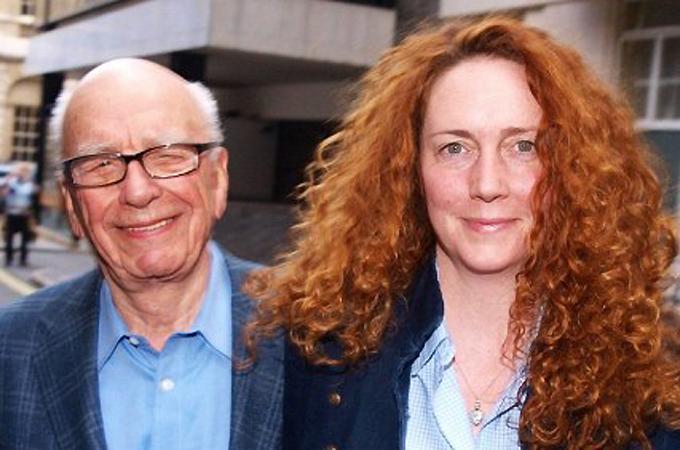 The hacking scandal has shaken the media empire of Rupert Murdoch, left