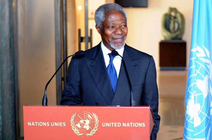 Kofi Annan said a unified Security Council had better chances of ending the Syrian conflict