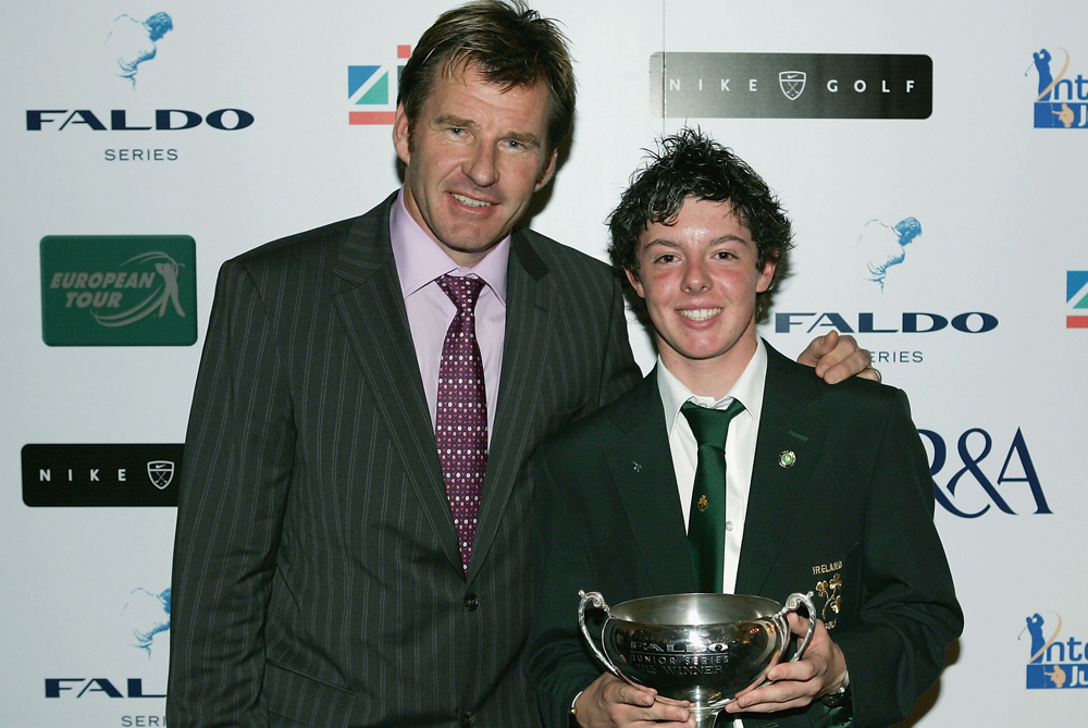 A young Rory McIlroy poses with his under-15 trophy at the Faldo Series Finals in 2004. Far from his successful amateur days the Northern Irishman become World No1 on Sunday after winning the Honda classic. With his first major in the bag, the 22-year-old is fast replacing Tiger Woods as the most watchable player on the circuit [GETTY]