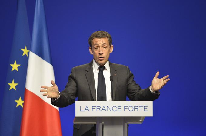 President Sarkozy is facing a tough re-election battle [EPA]