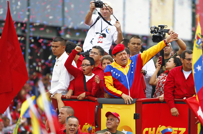 Chavez's approval ratings have remained above 50 per cent during the past year despite his illness