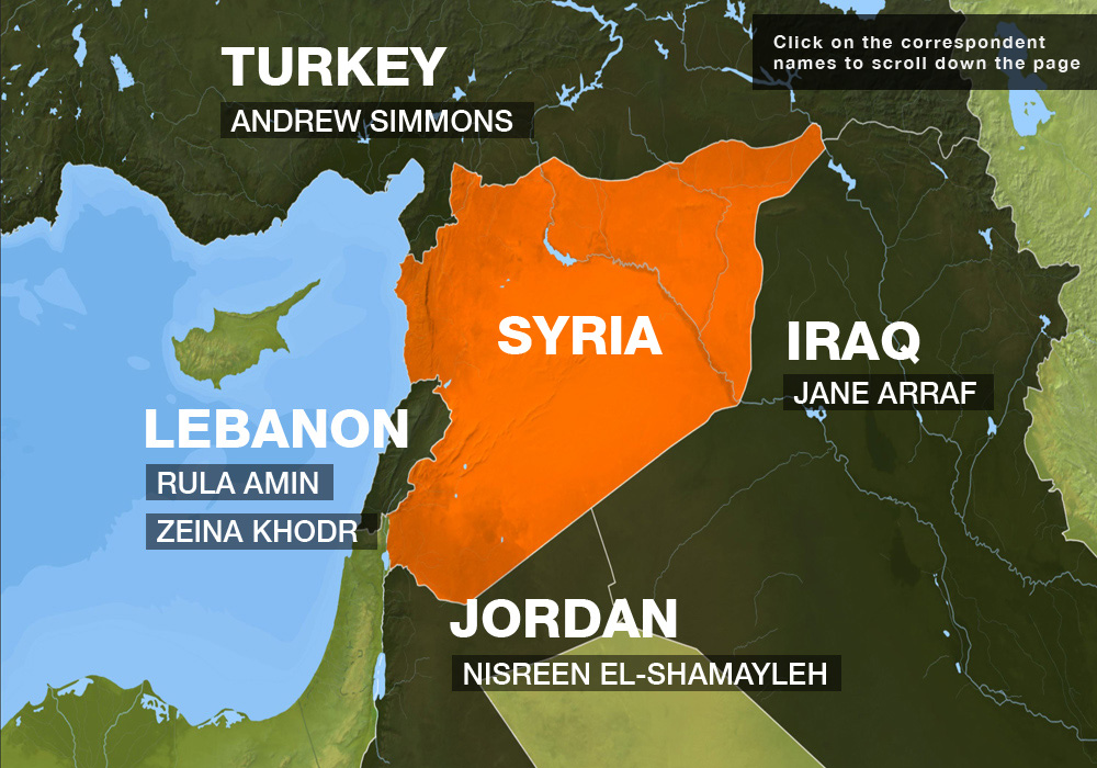Syria Correspondents Interactive Map
