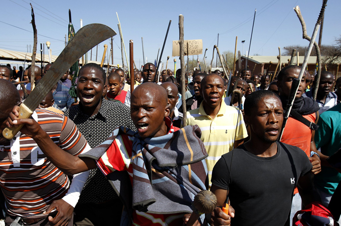 Image result for africans  machetes