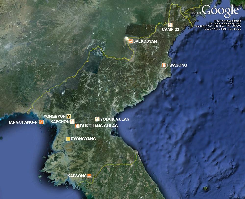 Revealing N Koreas Gulag And Nuclear Sites Al Jazeera - Satellite map sites