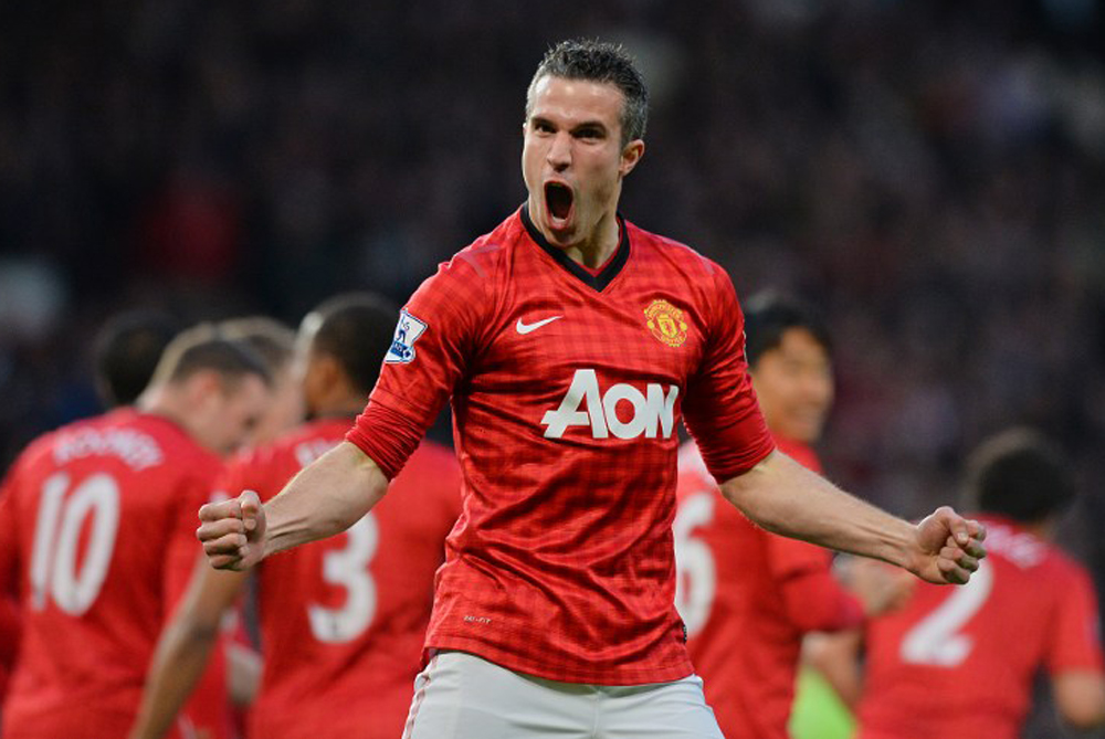 Manchester United claimed their 20th English Premier League title earlier this week, when a Robin van Persie hat-trick gave them a 3-0 victory over Aston Villa and an unassailable 16-point lead over cross-town rivals City [AFP]