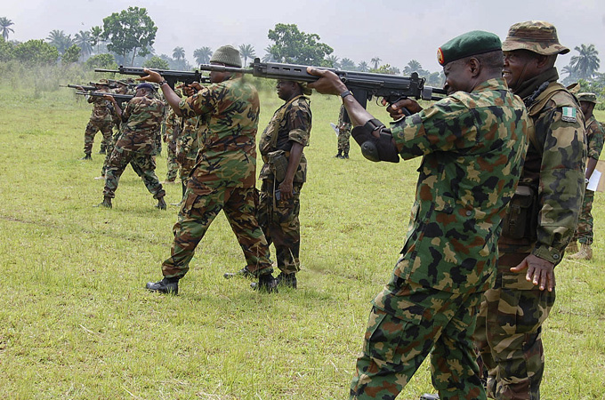 Rights groups have criticised Nigerian soldiers for committing abuses during the conflict [EPA]             aljazeera.com