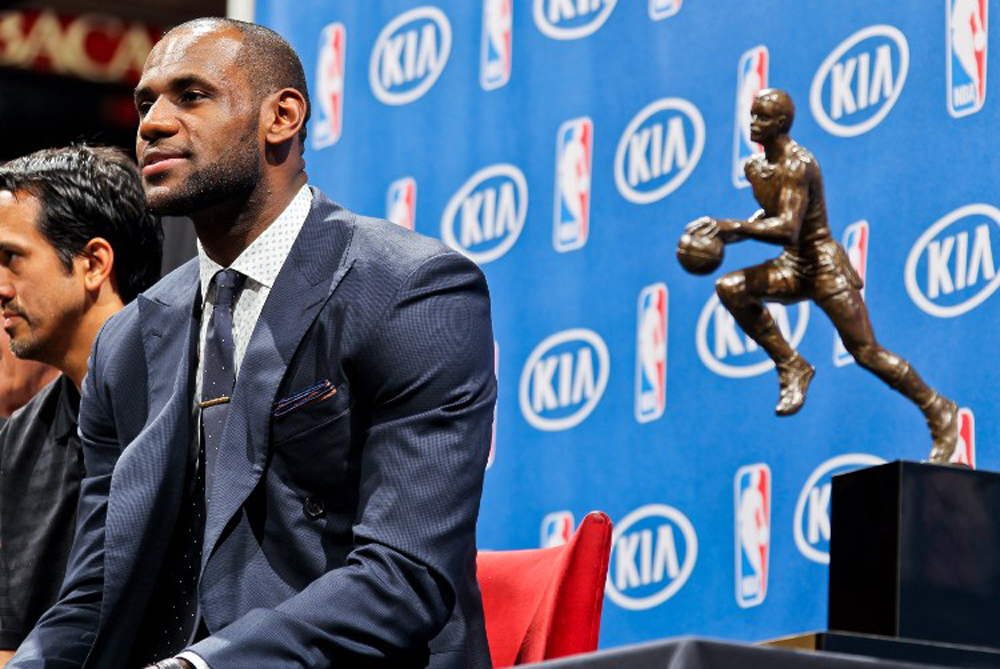 <p>Miami Heat(***)s star forward LeBron James has been named NBA(***)s Most Valuable Player for the 2012-13 season [AFP]</p>