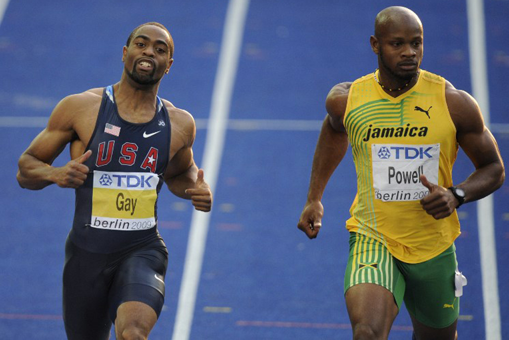 Athletics was thrown into turmoil when high-profile sprinters Asafa Powell and Tyson Gay returned positive tests for banned substances on Sunday [AFP]