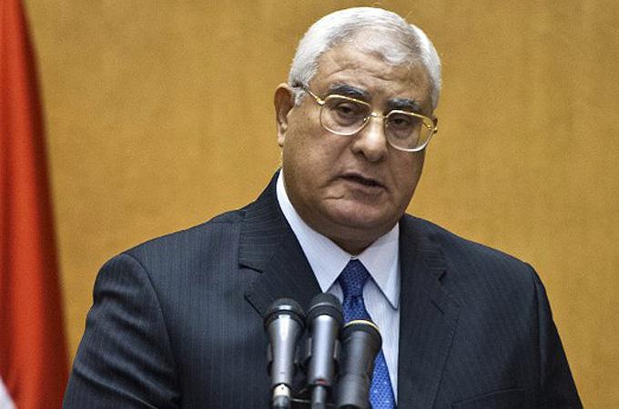 Interim President Adly Mansour | AFP