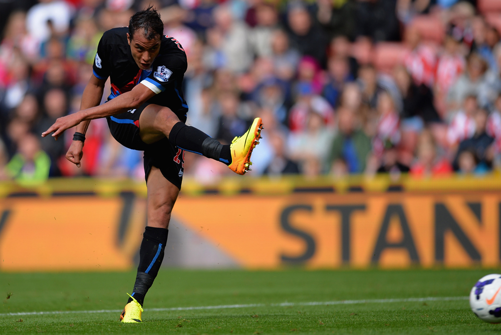 <p>Morocco striker Marouane Chamakh marked his debut for newly-promoted EPL side Crystal Palace by scoring the opening goal at Stoke City. It was the former Arsenal player(***)s first EPL goal since 2011 [GETTY]</p>