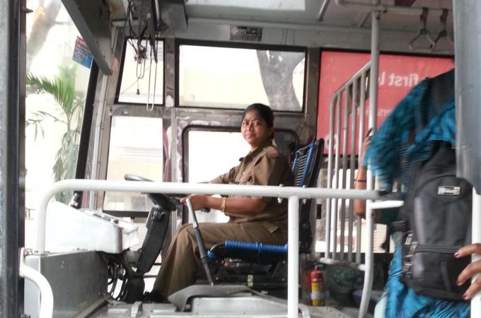 Kerala Women Hot In Bus 105
