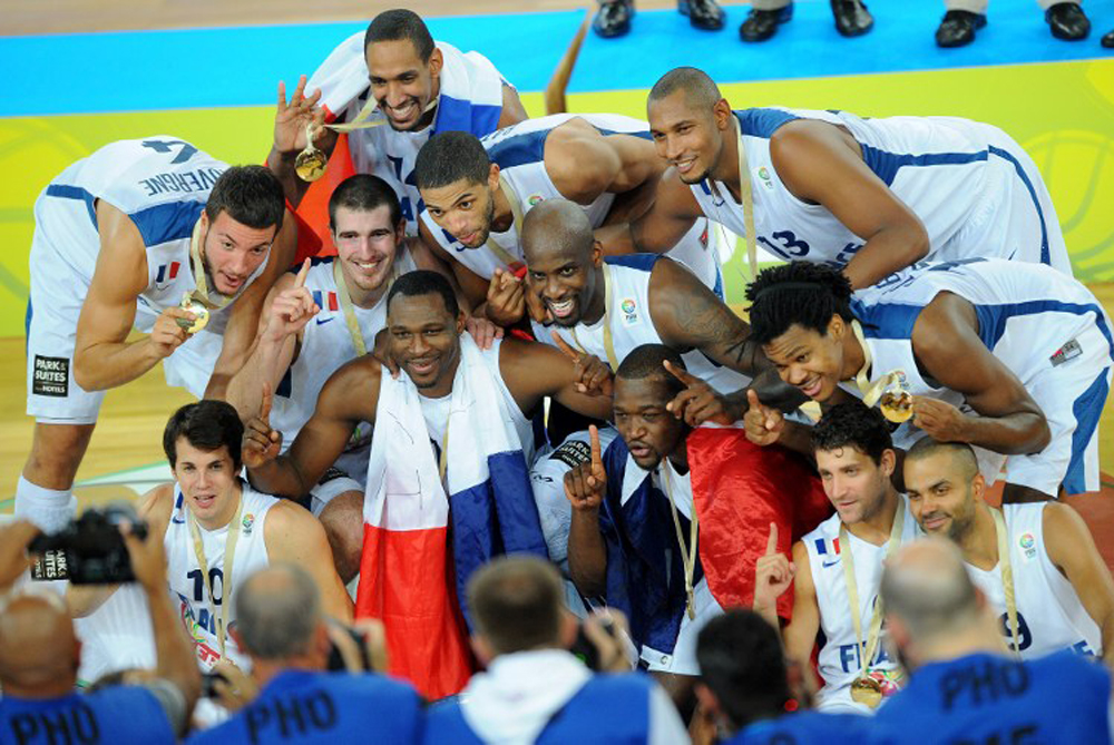 <p>France secured their first major basketball title beating Lithuania 80-66 in the European Championships final in Slovenia on Sunday [AFP]</p>