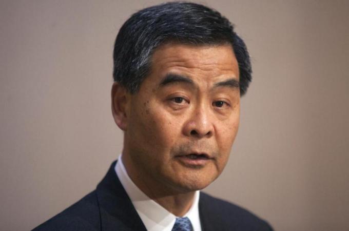 Hong Kong leader blames 'external forces'