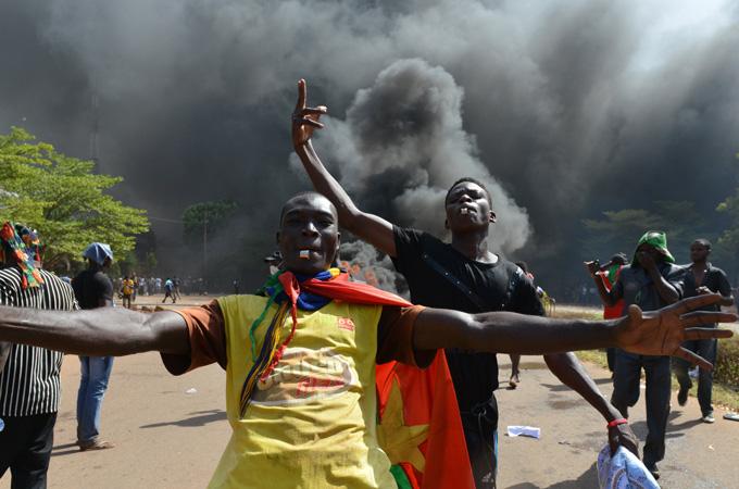 Burkina Faso parliament set ablaze in protest News Al Jazeera