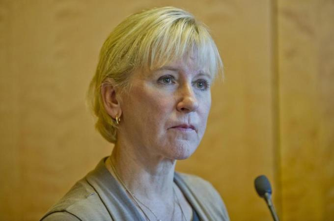 Foreign Minister Margot Wallstrom said the recognition 'confirms the Palestinians' right to self-determination' [EPA]