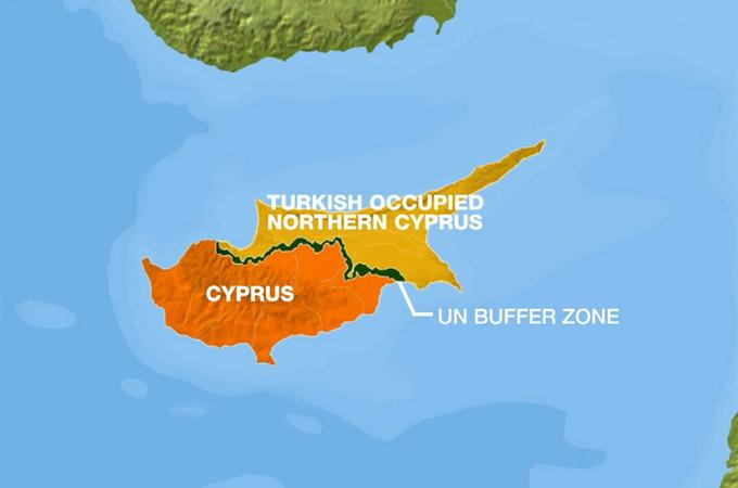 Cyprus Divided Years On Europe Al Jazeera - Map of northern cyprus in english