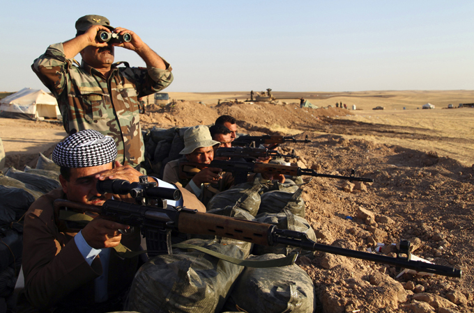 Kurdish rivals unite to fight Islamic State