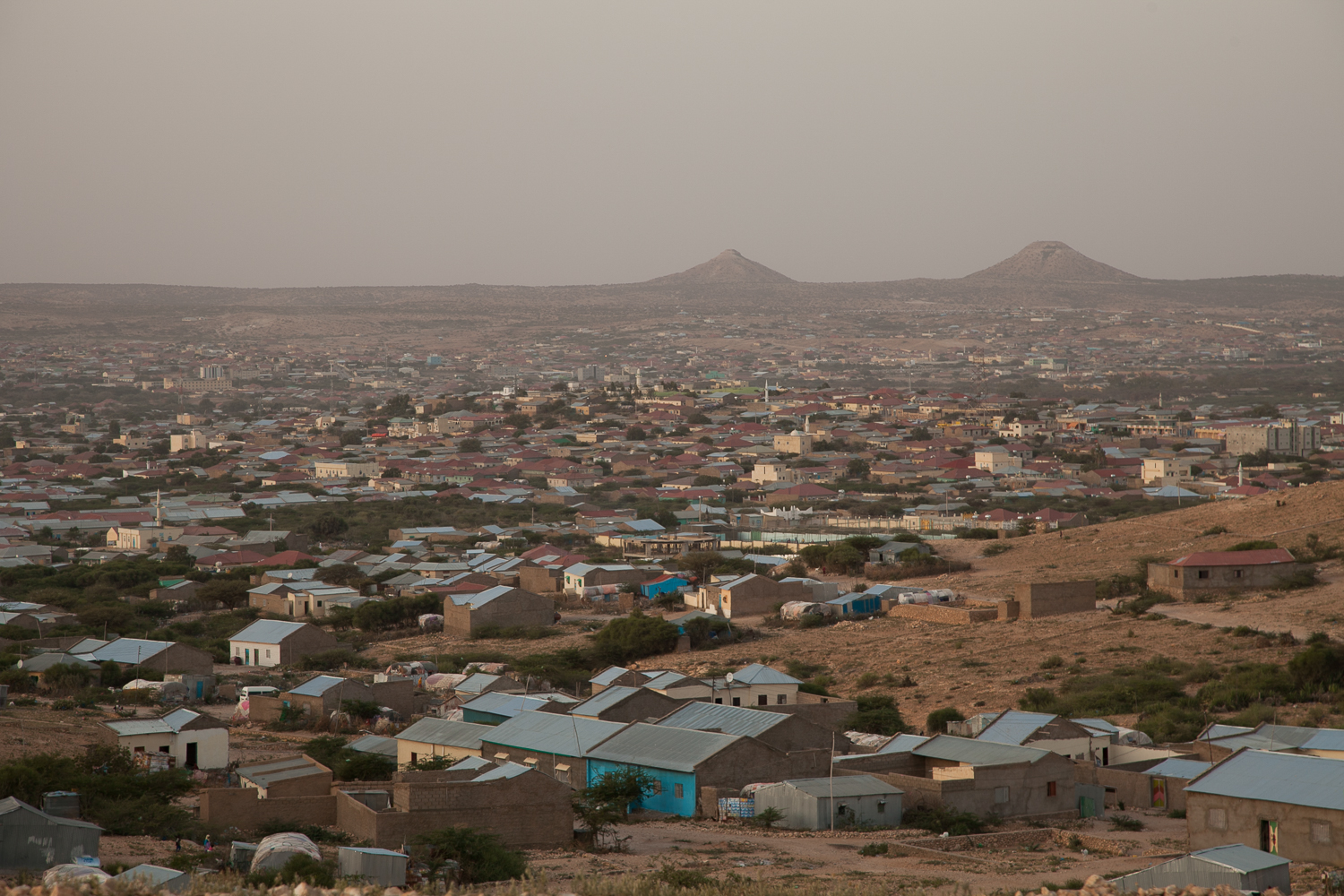 View across Hargeisa, the capital of the breakaway northern region of Somalia. [Zoe Flood/Al Jazeera]