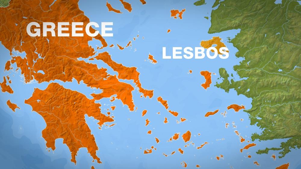 lesbos greece map