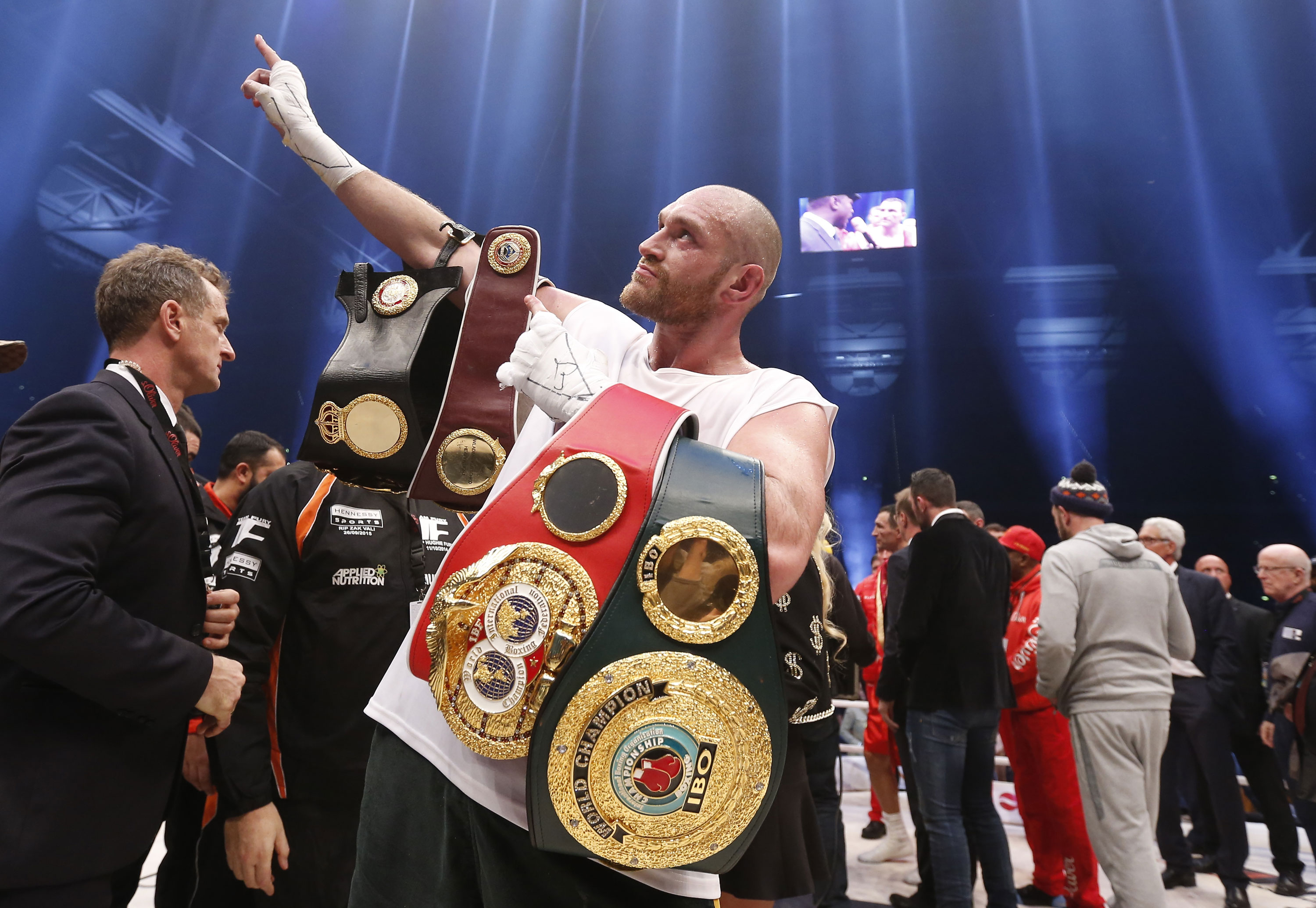 Tyson Fury is the new heavyweight world champion after defeating Wladimir Klitschko by unanimous decision. [Lee Smith/Livepic/Reuters]