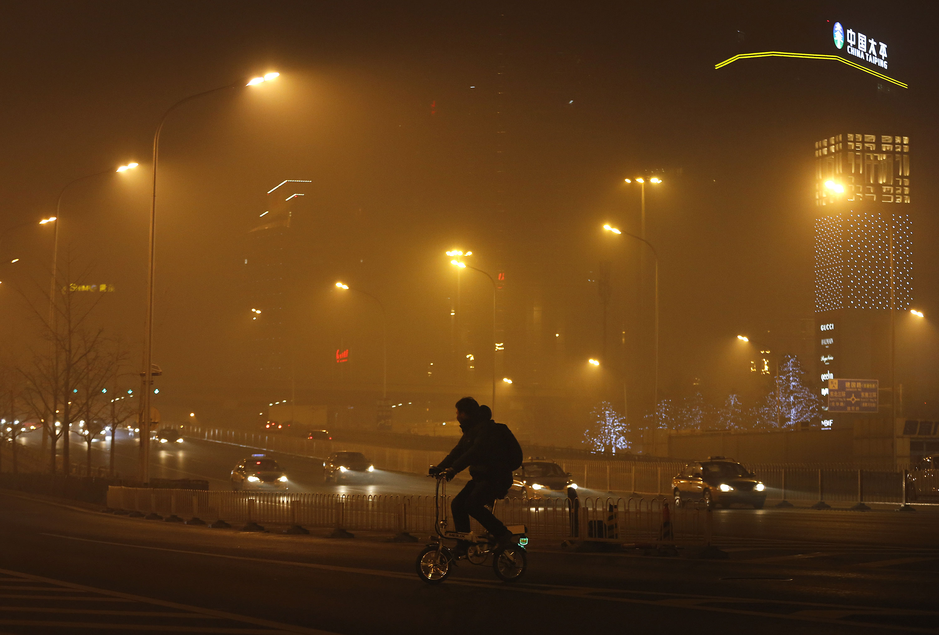 Beijing has issued its highest smog alert of the year after pollution reached hazardous levels. [Andy Wong/AP]