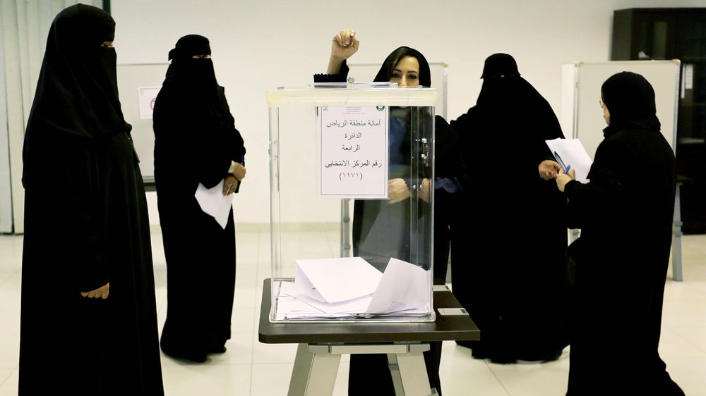 Image result for saudi arabia women voting