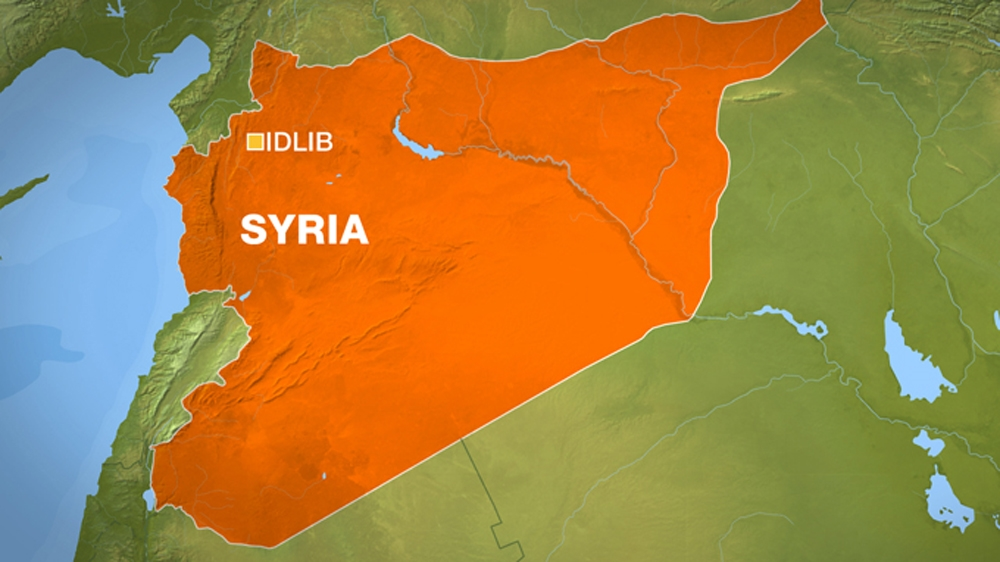 Map of Syrian city of Idlib