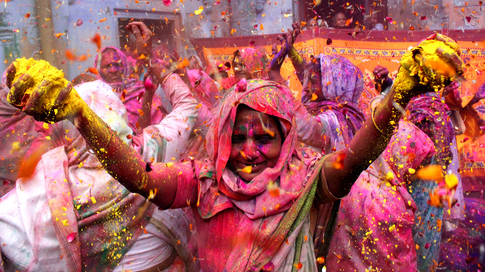 holi festival And, for passengers of indian airline spicejet, that was certainly true when one of its chartered flights began with a flashmob celebration of hindu festival, holi.