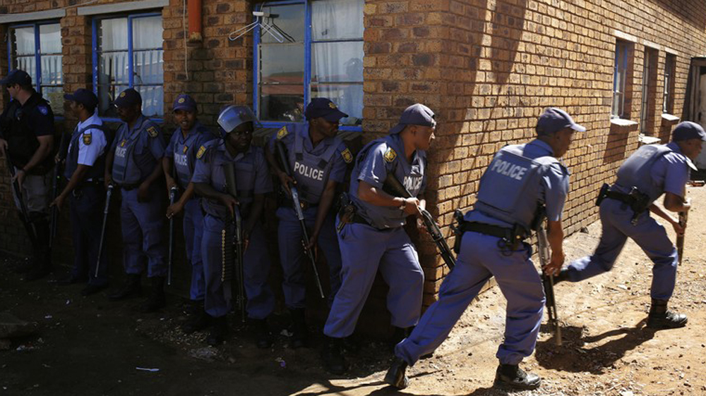 Police fire rubber bullets at Rhodes University students protesting against rape case that happened on campus.