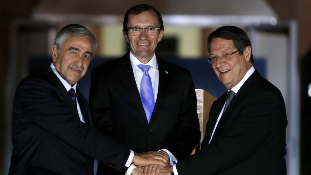 Talks 'on track' to reach a solution to Cyprus dispute