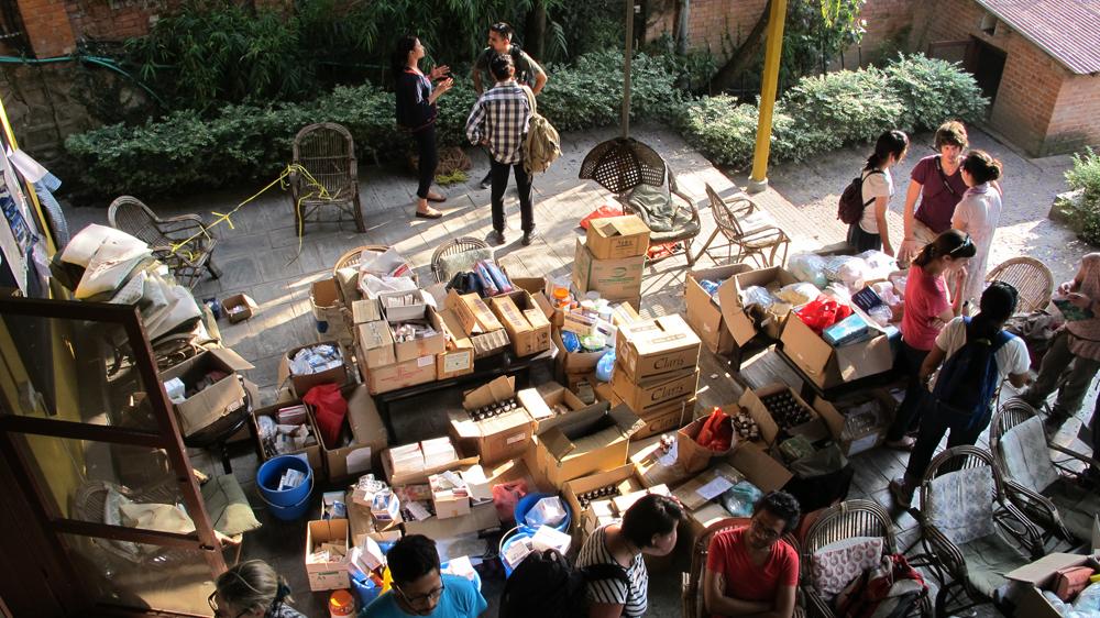 when disaster struck: nepalese volunteers in aid action - al