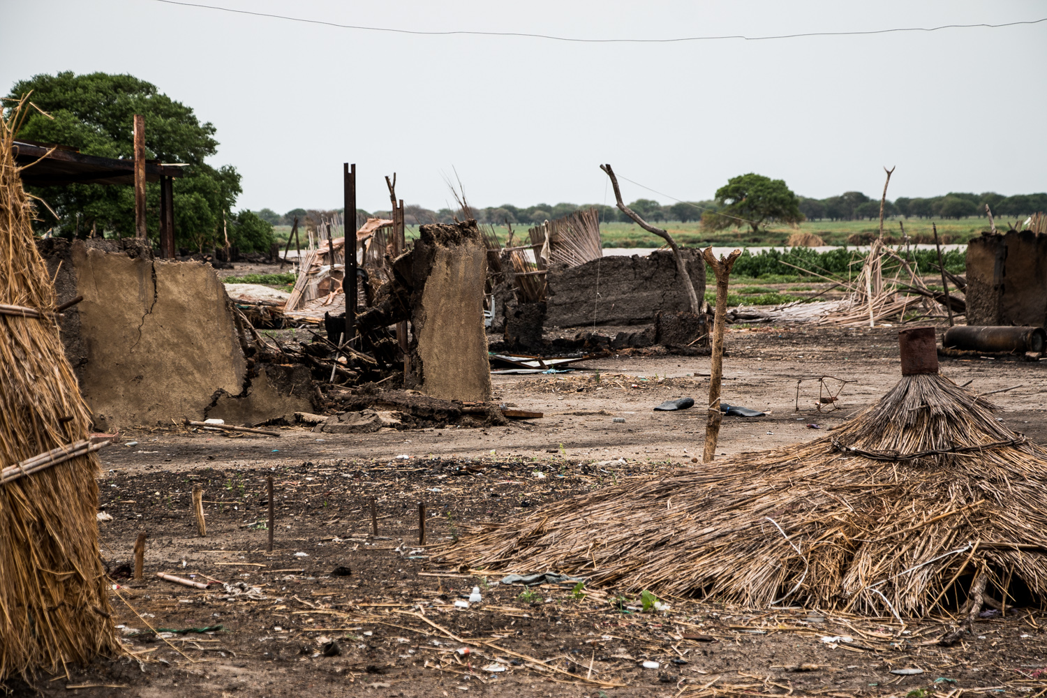 Melut Town in South Sudan's conflicted Upper Nile state was destroyed in mid-May during a battle between government and rebel forces. [Ashley Hamer/Al Jazeera]