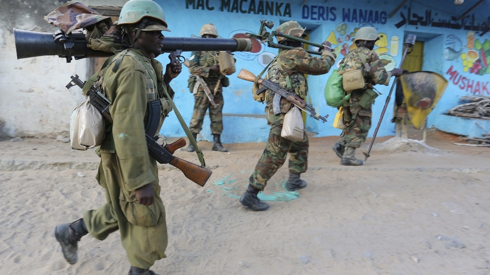 Government soldiers among at least 10 people killed in the latest attack in Mogadishu to be claimed by al-Shabab.
