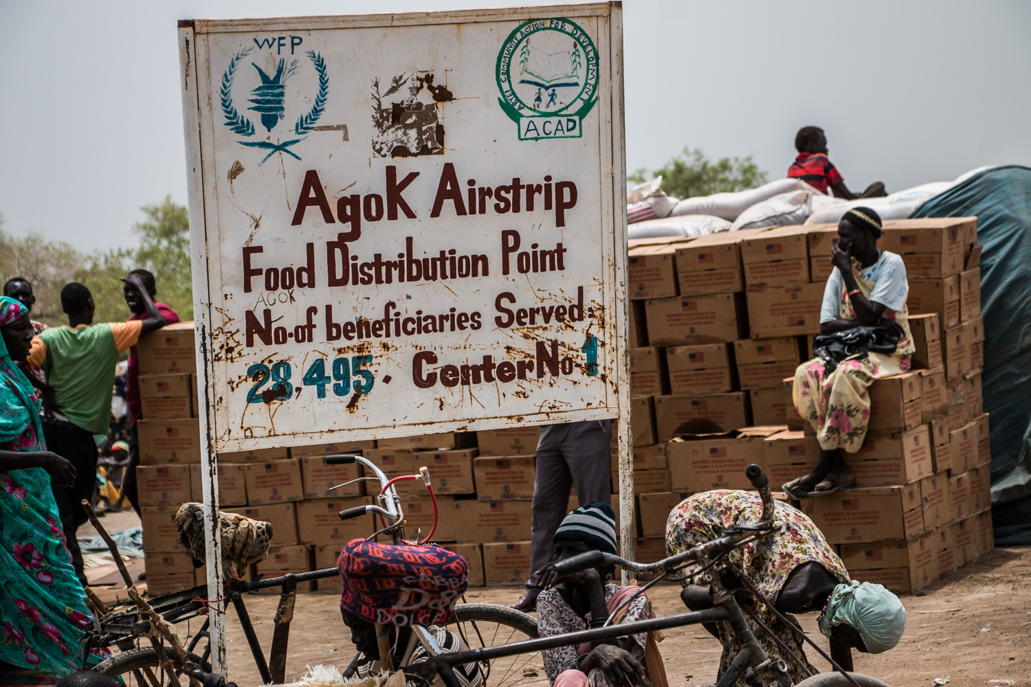 Agok, a settlement of mainly displaced people on the southern border of Abyei with South Sudan, hosts tens of thousands of families displaced by fighting inside Abyei and also from South Sudan's troubled northern states. [Ashley Hamer/Al Jazeera]