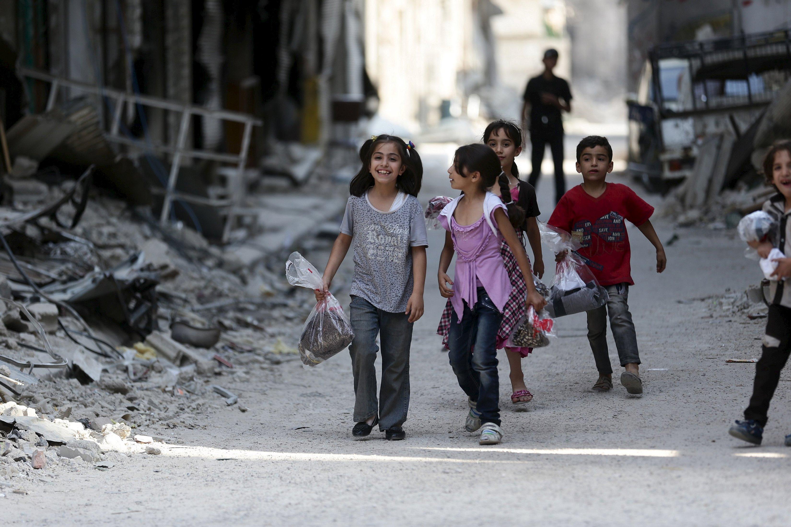 Perayaan Idul Fitri di Suriah