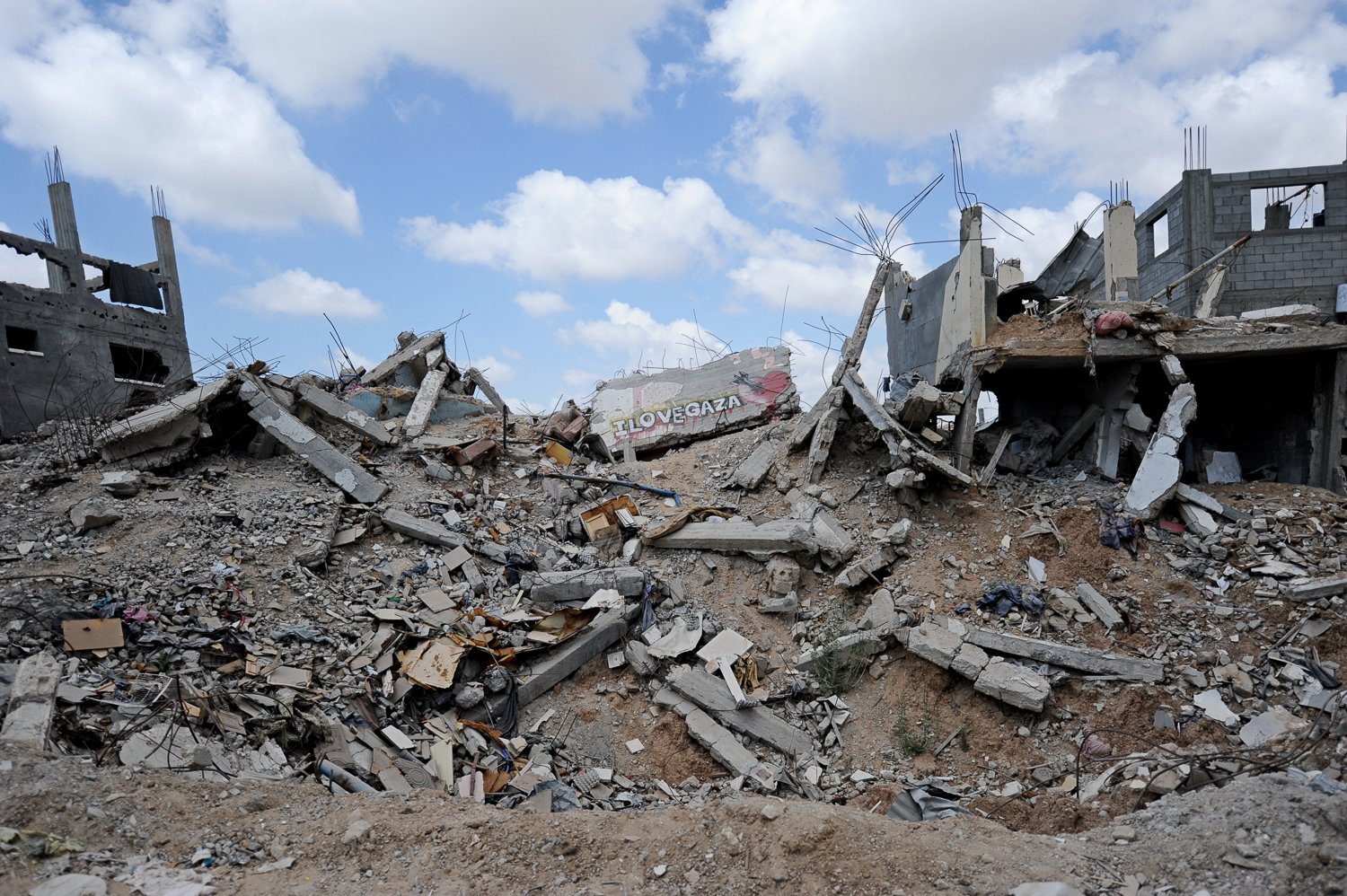 An entire neighbourhood in Shujayea was wiped out in the 2014 Israeli war on Gaza, killing many and displacing thousands. At the current rate of reconstruction materials being allowed into blockaded Gaza, it will take another 66 years to rebuild what was destroyed and meet the population's housing needs. [Karl Schembri/NRC]