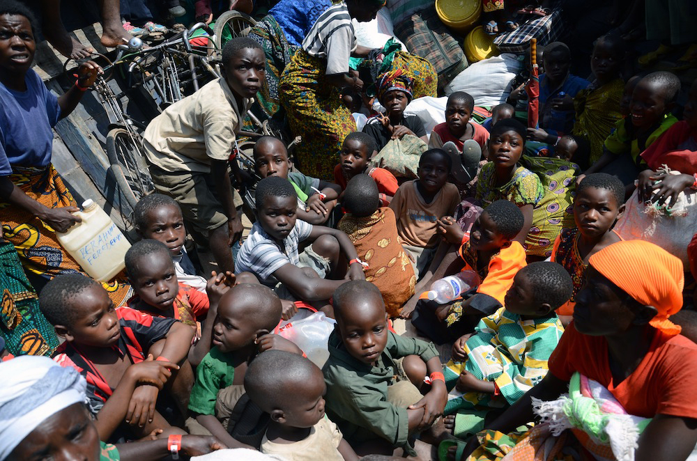 According to the UNHCR, some 1,200 children crossed the border into Tanzania without their parents or elders. [Azad Essa/Al Jazeera]