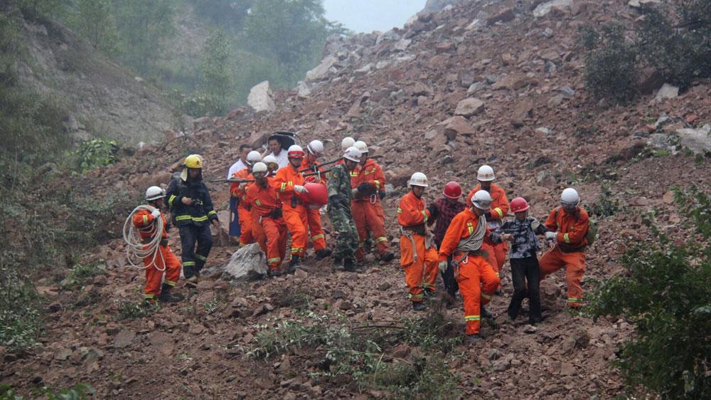 Image result for 1 dead, dozens missing after China landslides: reports