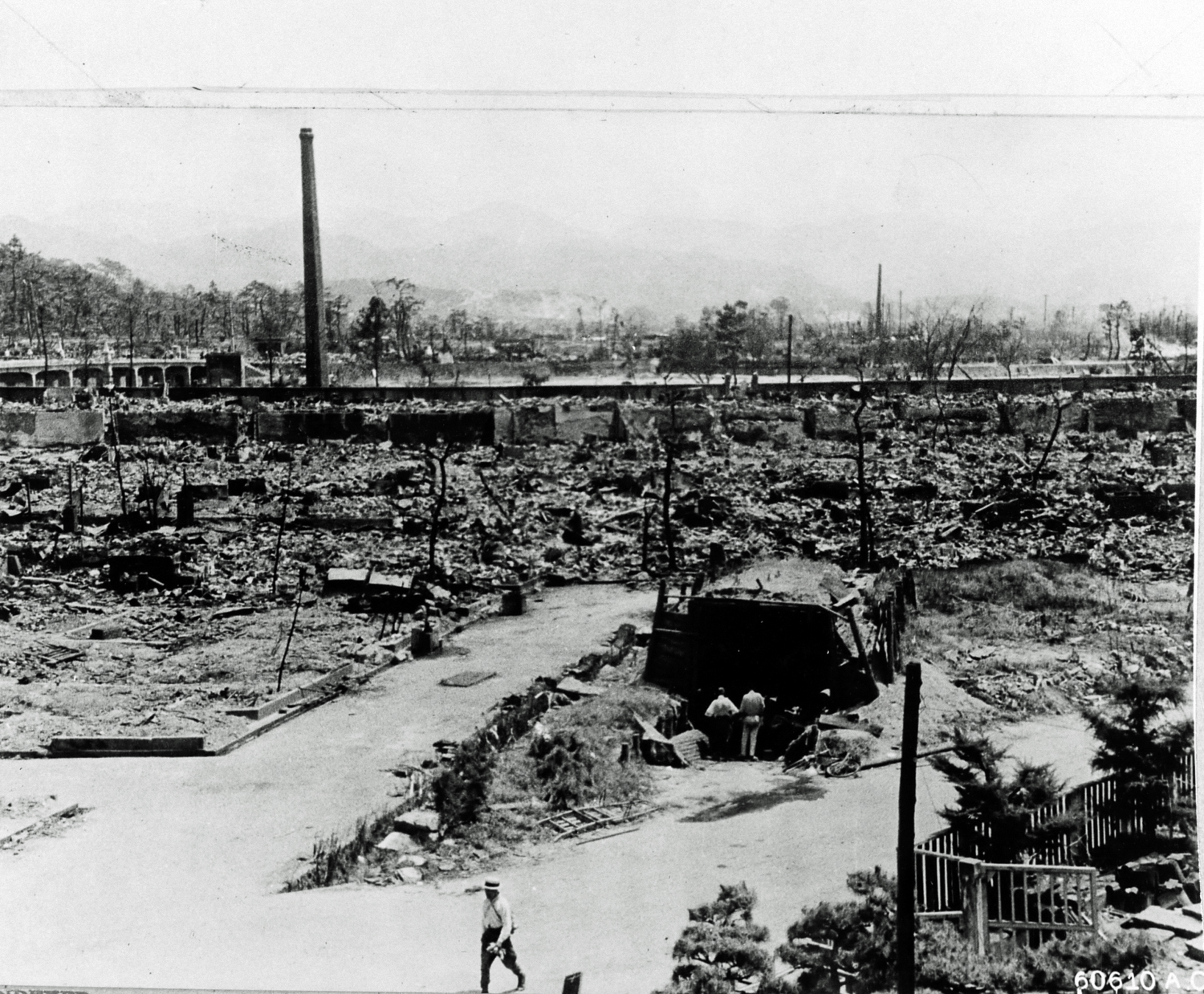 Hiroshima Japan In Ruins After The Dropping Of Atomic Bomb August 6