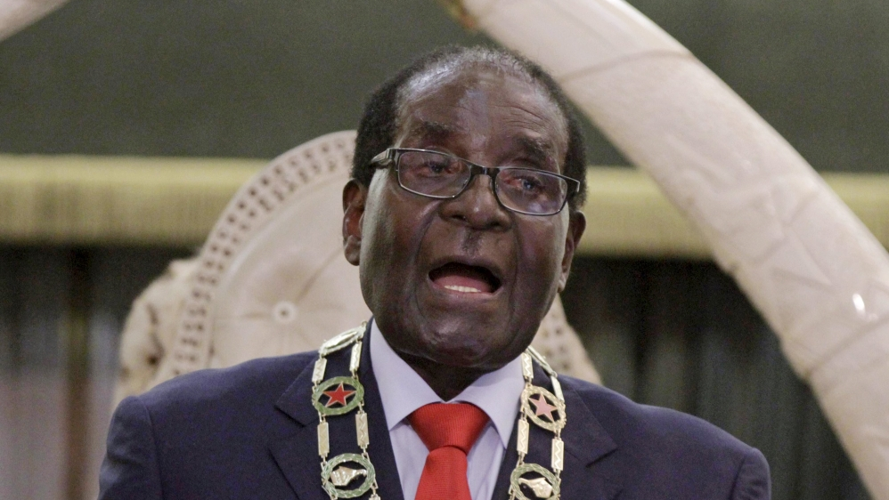 Mugabe delivers wrong speech in Zimbabwe parliament