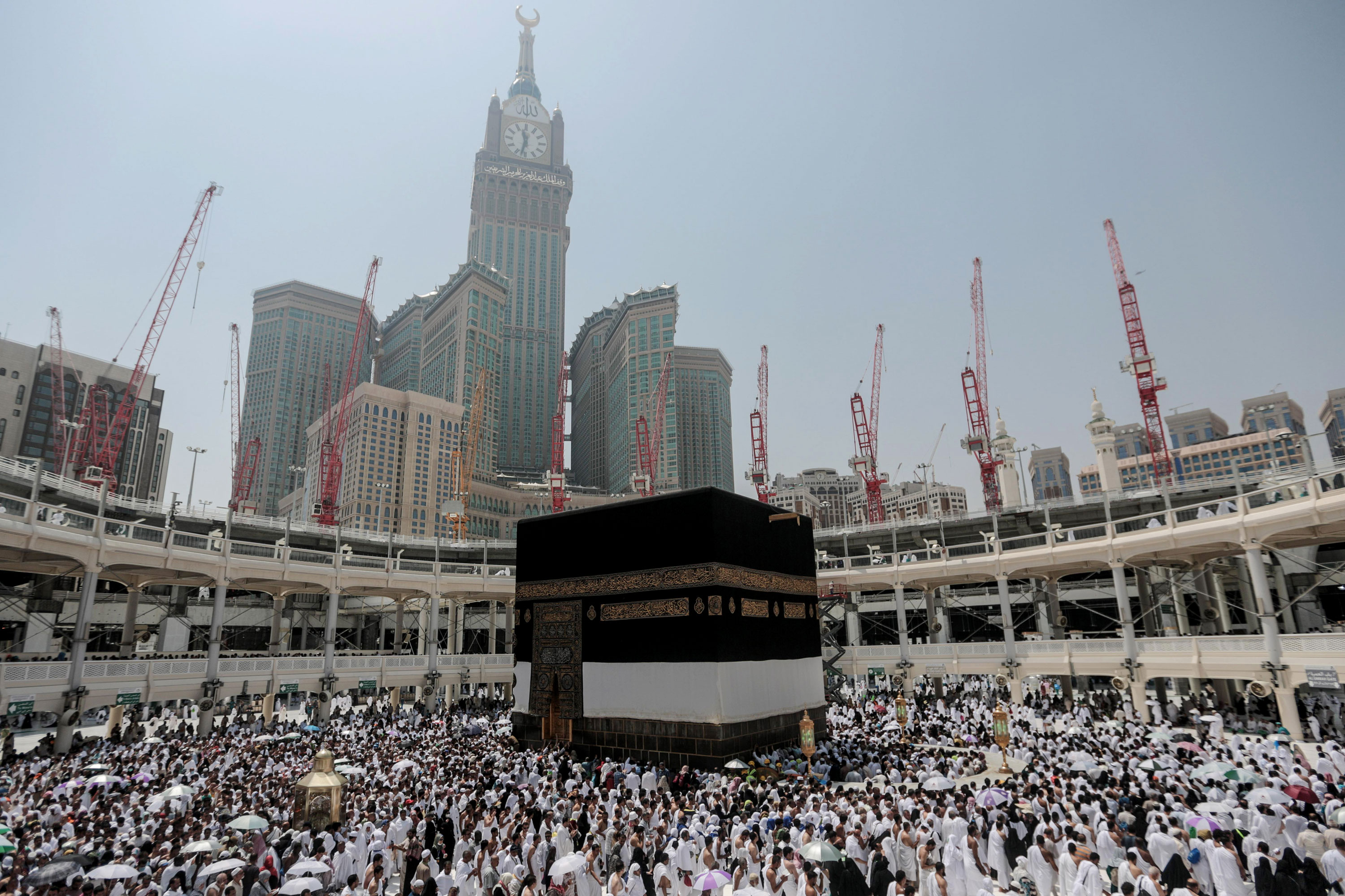 More than 2 million Muslims have begun the first rites of the annual Hajj pilgrimage, which draws people from around the world to Mecca and areas around it to perform a series of rituals and prayers aimed at ultimately erasing past sins. [Mosa ab Elshamy/AP]