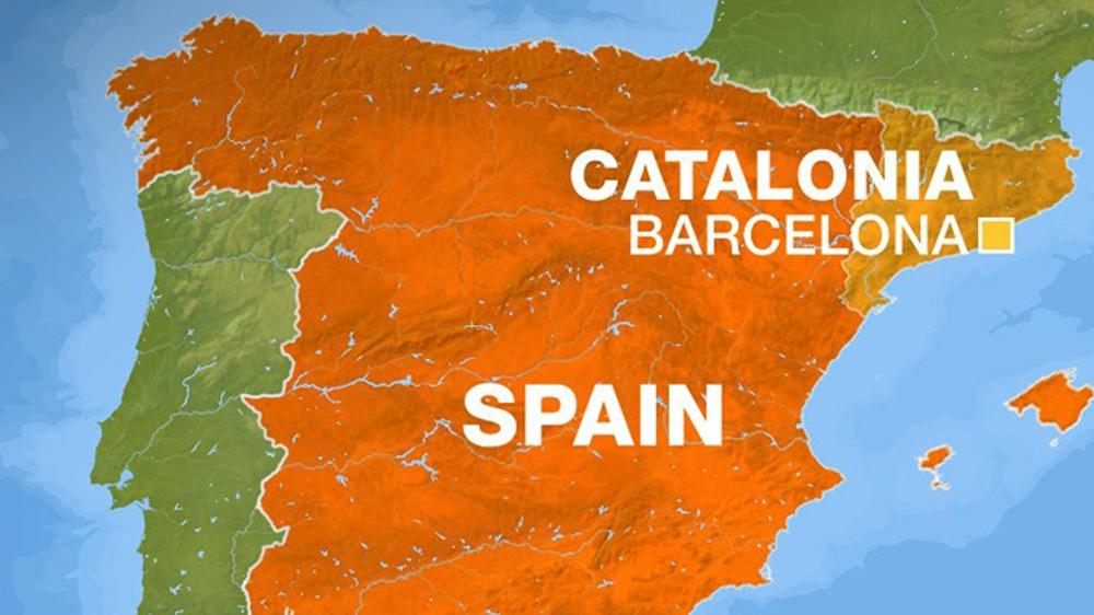 Peta Wilayah Spanyol dan Katalonia