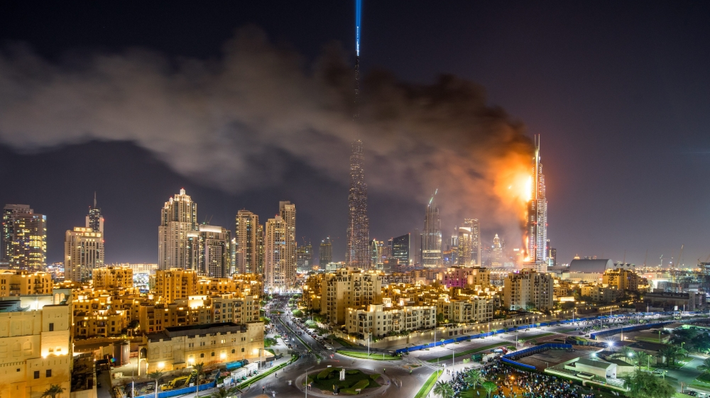 Dubai investigates cause of luxury hotel fire uae news for Top hotels in dubai 2016