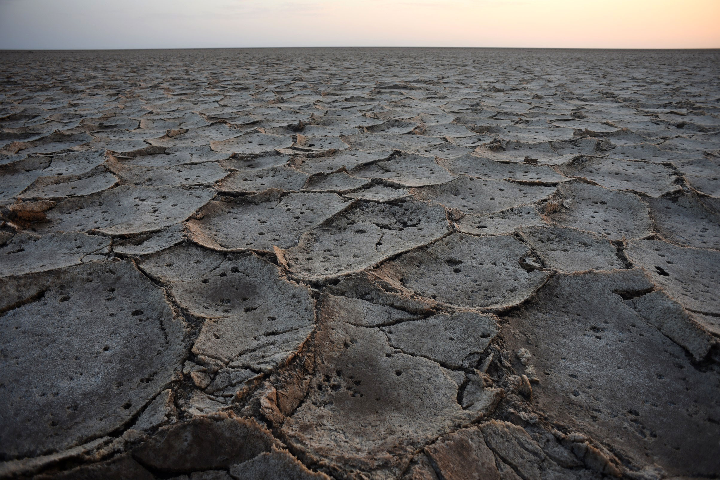 The salt flats of the Danakil Depression were formed tens of thousands of years ago by the evaporation of an inland sea. [Jason Patinkin/Al Jazeera]