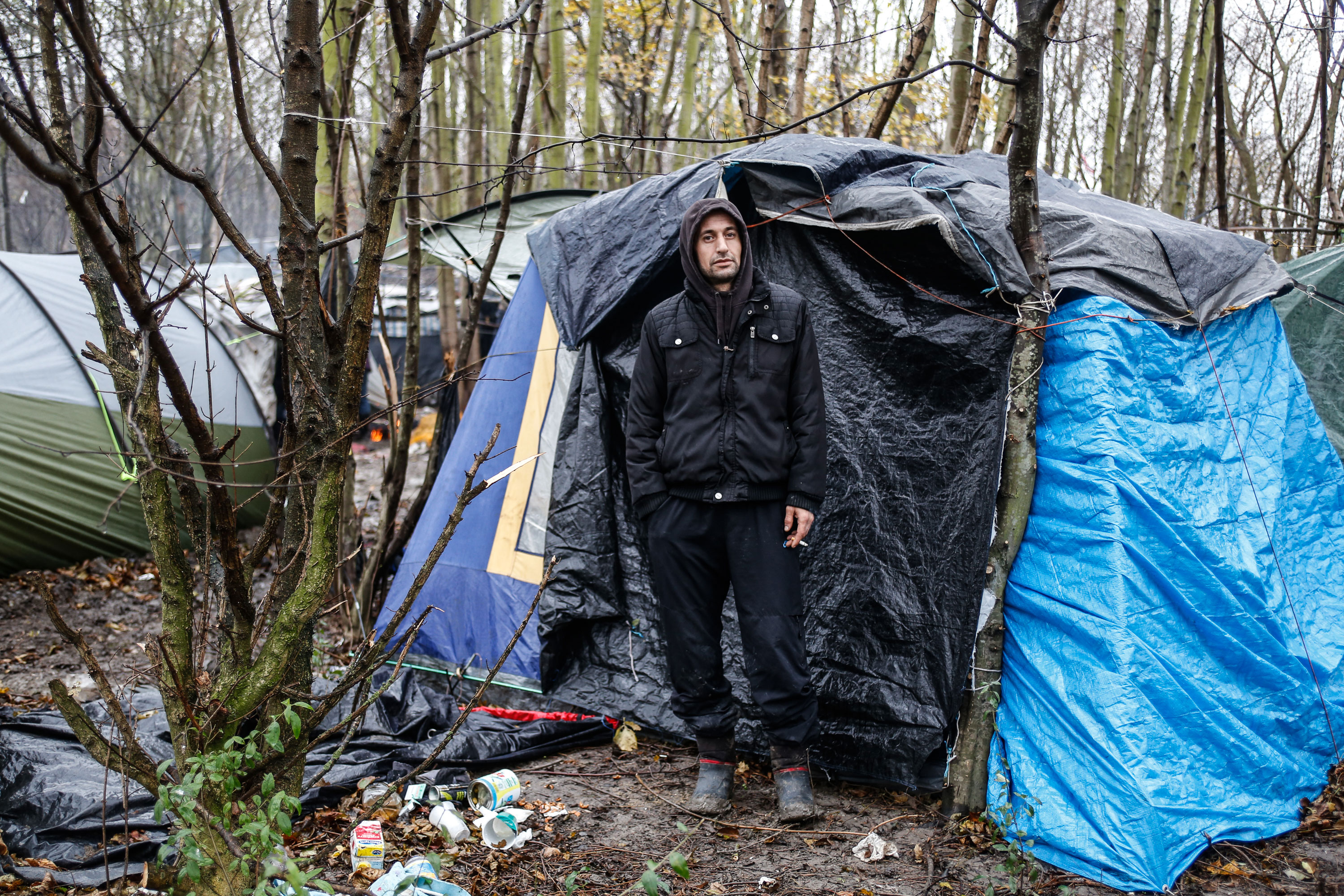 After living in Paris for a year 30-year-old Ahmad Muhammed from & In Dunkirk refugee camp a life of muddy uncertainty | | Al Jazeera