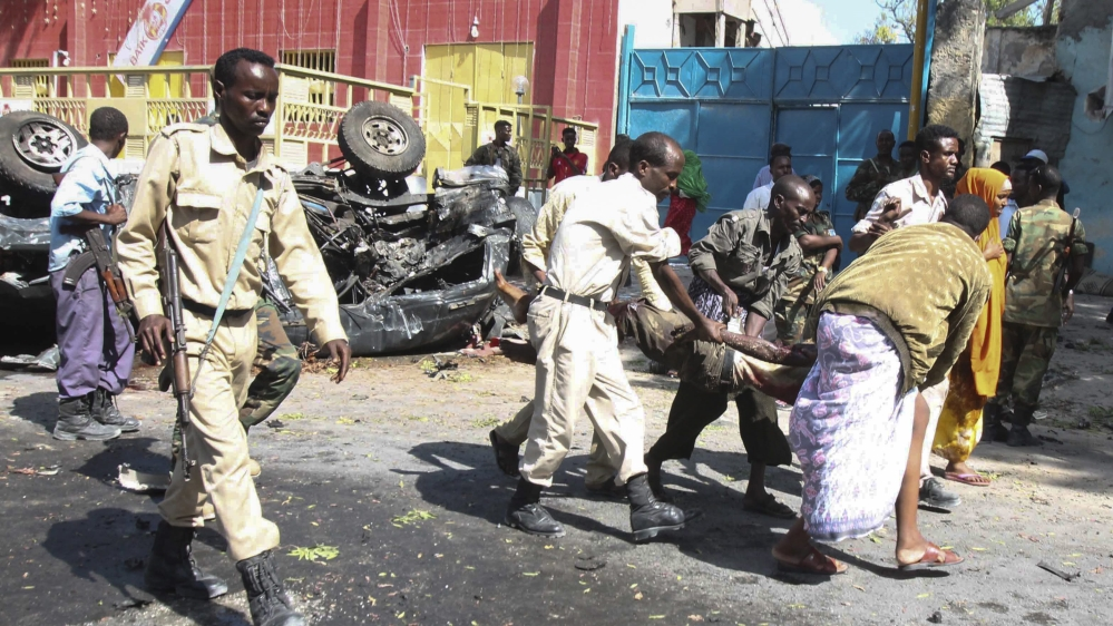 Al-Shabab says it carried out attack near a detention centre, the latest in a series of explosions to strike Mogadishu.
