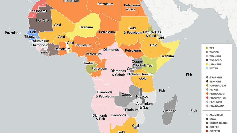 An overview of the continent's main natural resources.
