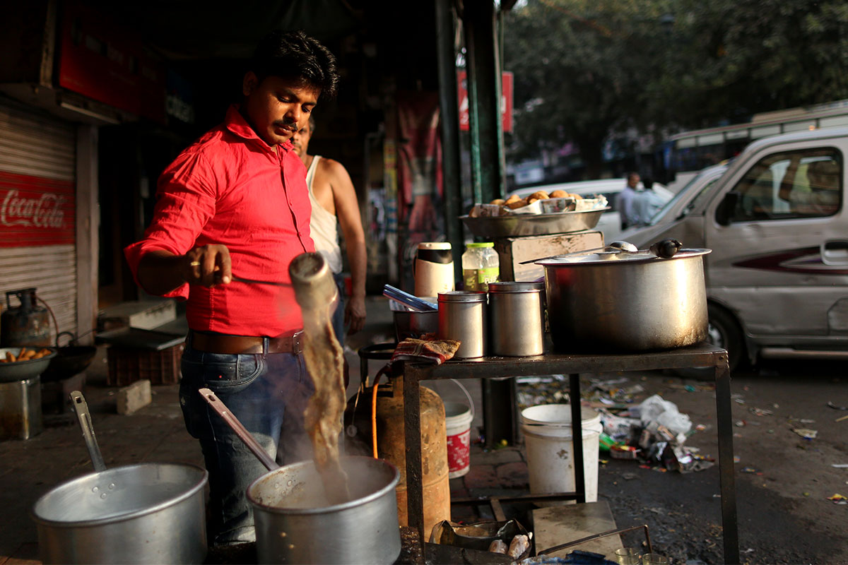 """Yeh naseeb hai uss chai waalay ka (this is his fate and he is lucky),"" says 24-year-old tea seller Feroz Aalam of Arshad Khan, the Pakistani tea seller who recently became famous after a photo of him went viral. ""I also used to dream of owning a big car and a bungalow but here I am preparing chai for the customers. I still have a long life ahead. It is very tough to sit at the tea stall, especially in the summer, and brew chai in front of a stove. I hardly earn or save anything but then being a chai wala (tea seller) is what I have accepted."" [Showkat Shafi/Al Jazeera]"