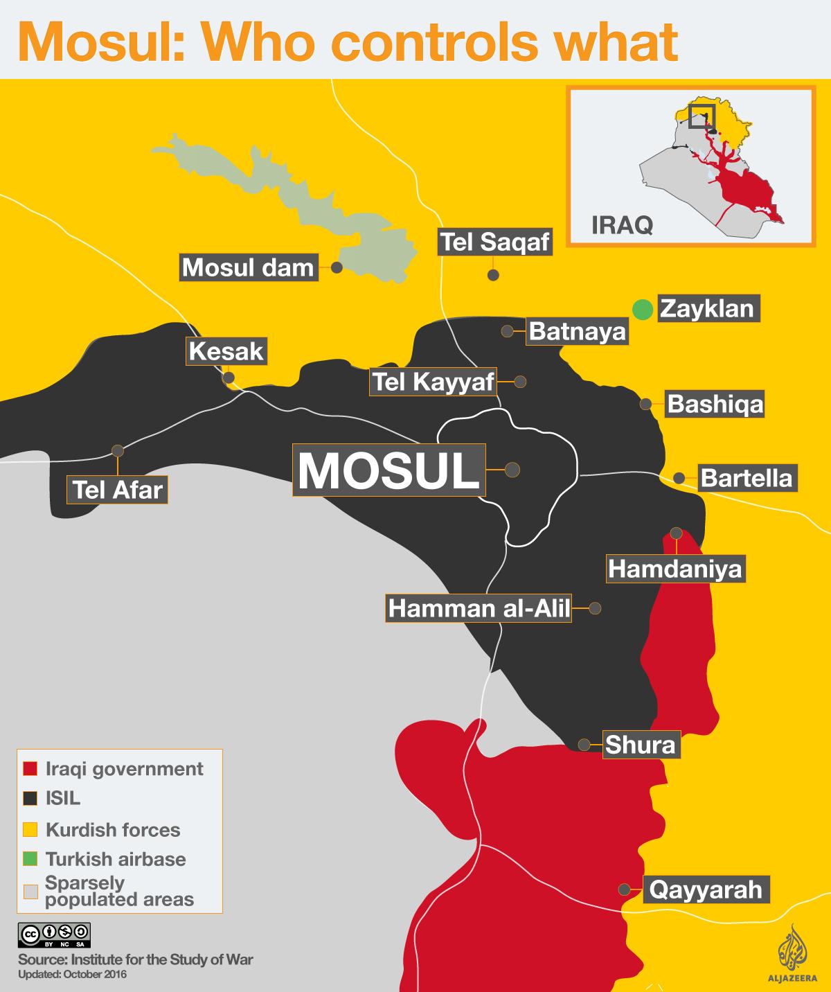 Mosul Who Controls What Updates Al Jazeera