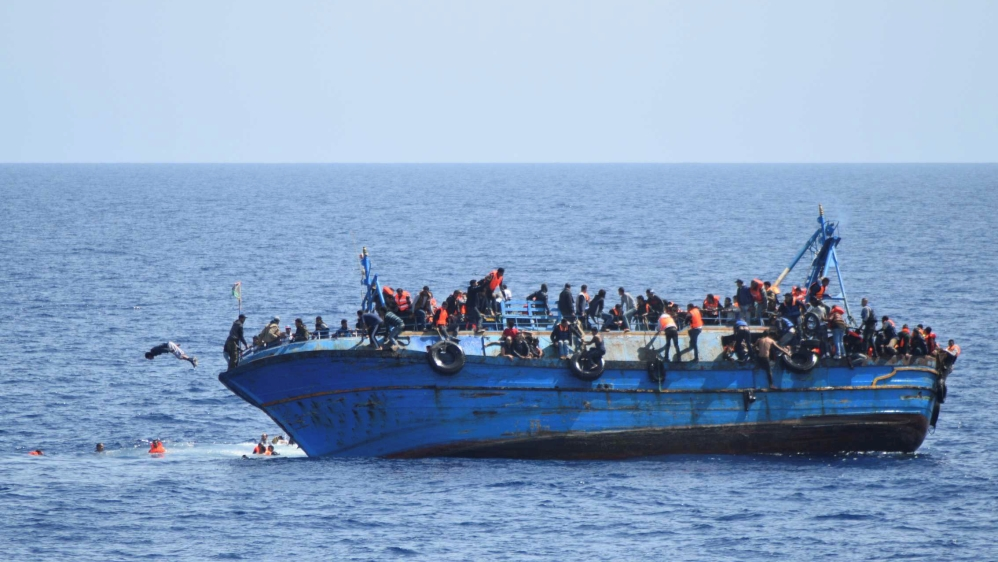 French aid group rescues 107 people off Libya's coast as death toll on Mediterranean this year reaches 3,800.